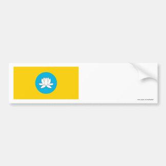 República de la bandera de Kalmukia Etiqueta De Parachoque