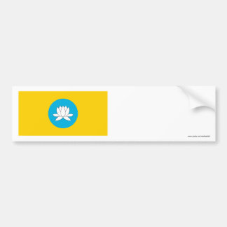 República de la bandera de Kalmukia Pegatina Para Auto