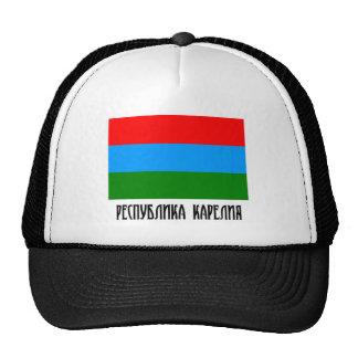 República de la bandera de Karelia Gorros Bordados