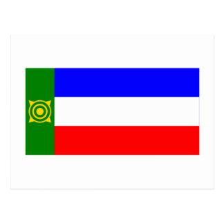 República de la bandera de Khakassia Tarjetas Postales
