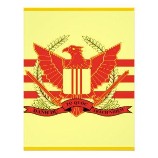 República de la bandera de las fuerzas militares plantillas de membrete