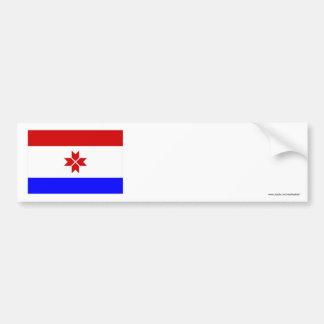 República de la bandera de Mordovia Pegatina Para Auto
