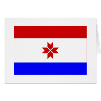 República de la bandera de Mordovia Tarjeton