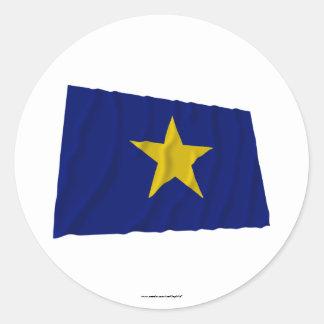 República de la bandera de Tejas Etiqueta