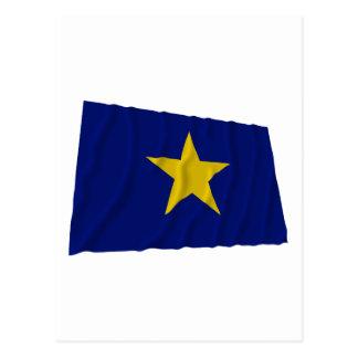 República de la bandera de Tejas Postal