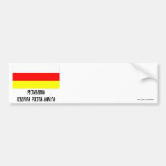 República de la bandera del norte de Ossetia-Alani Pegatina Para Auto