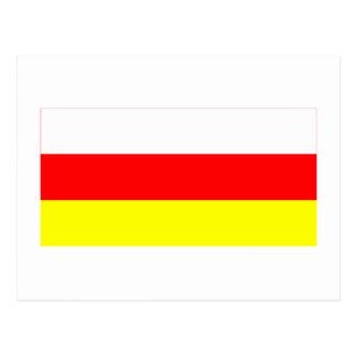 República de la bandera del norte de Ossetia-Alani Postales