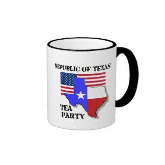 República de la fiesta del té de Tejas Taza A Dos Colores