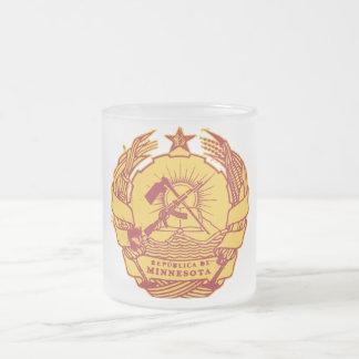 Republica de Minnesota 10 Oz Frosted Glass Coffee Mug