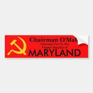 República de Peopls de Maryland Etiqueta De Parachoque