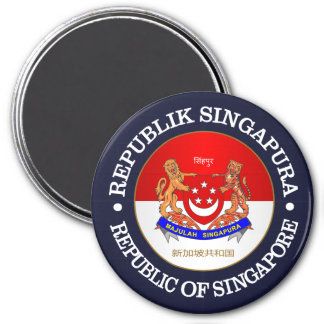 República de Singapur Imán Redondo 7 Cm