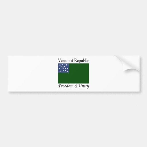 República de Vermont Pegatina Para Auto