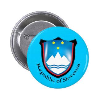 República del botón de Eslovenia Pin Redondo De 2 Pulgadas