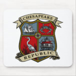 República del Chesapeake Tapete De Ratones