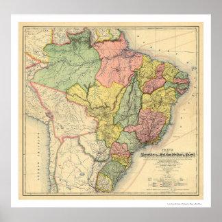 República del mapa 1892 del Brasil Impresiones