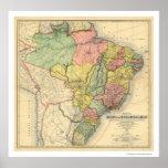 República del mapa 1892 del Brasil Póster