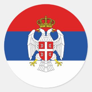 República del servio Krajina, Croacia Pegatina Redonda