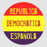 República, Democrática, Española Pegatina