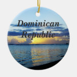 República Dominicana Adorno Navideño Redondo De Cerámica