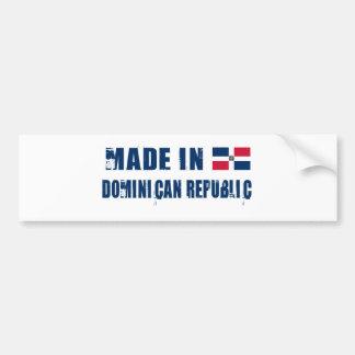 REPÚBLICA DOMINICANA PEGATINA DE PARACHOQUE