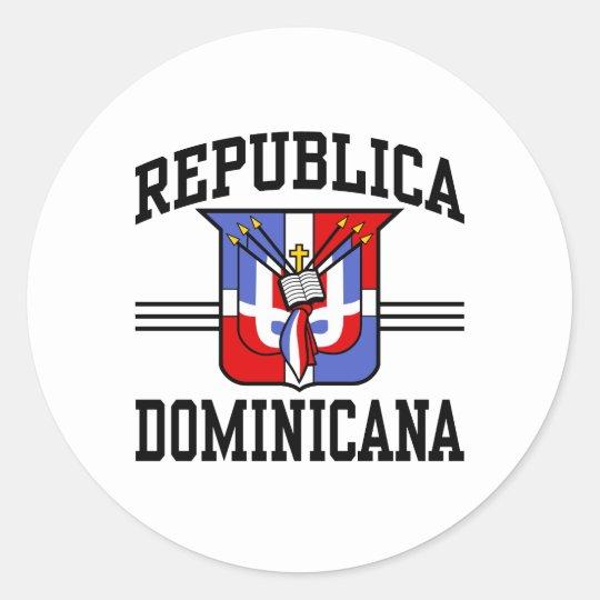 Republica Dominicana Classic Round Sticker