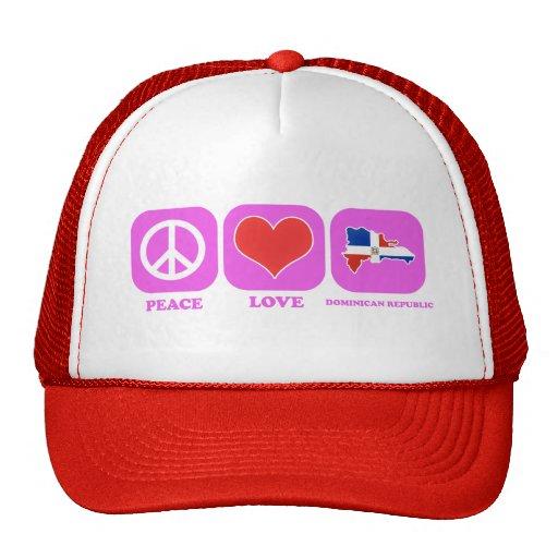 República Dominicana del amor de la paz Gorras De Camionero