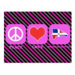 República Dominicana del amor de la paz Tarjeta Postal