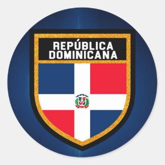 República Dominicana Flag Classic Round Sticker