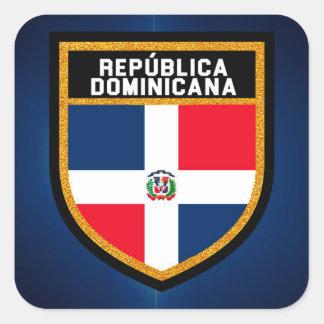 República Dominicana Flag Square Sticker