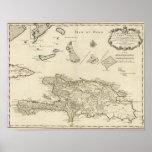 República Dominicana, Haití, las Antillas Poster