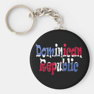 República Dominicana Llavero Redondo Tipo Pin
