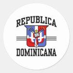 Republica Dominicana Pegatina Redonda
