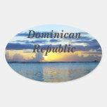República Dominicana Pegatinas De Ovaladas
