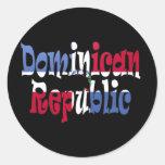 República Dominicana Pegatinas Redondas