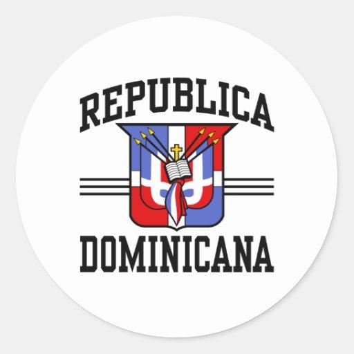 Republica Dominicana Round Stickers