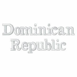 República Dominicana Sudadera Bordada Con Cremallera