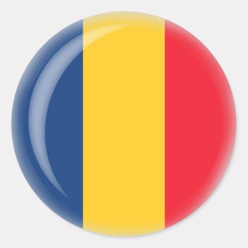 República eo Tchad Pegatina Redonda
