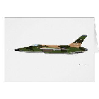 República F-105 Thunderchief Tarjeta De Felicitación