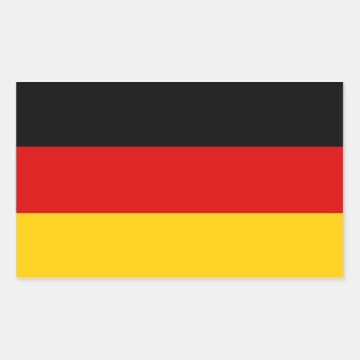 República Federal de Alemania tricolora Pegatina Rectangular