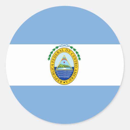 República federal de America Central, Costa Rica Pegatina Redonda