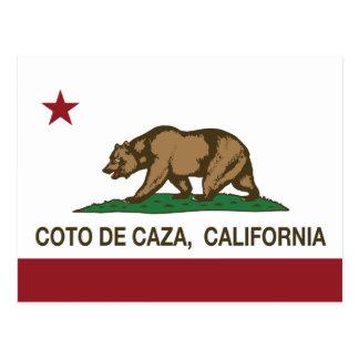 República Flag Coto De Caza de California Postal