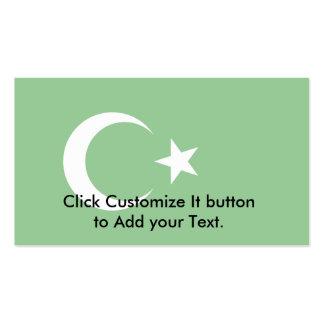 República islámica de Turkestan bandera de Colomb Tarjeta De Visita