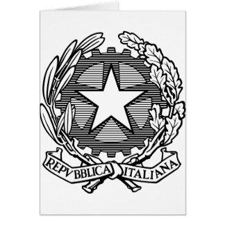 República italiana blanco y negro, Italia Felicitación