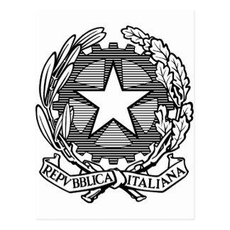 República italiana blanco y negro, Italia Postales
