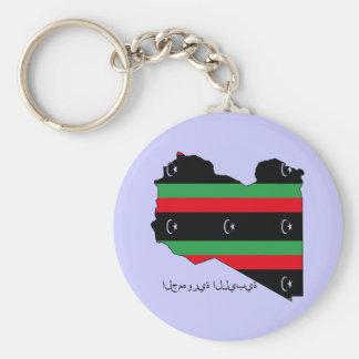 República libia (bandera en mapa) llaveros