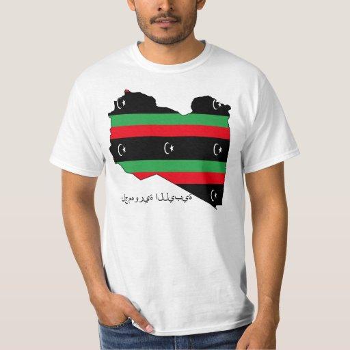 República libia (bandera en mapa) playera