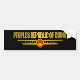 República Popular China Pegatina Para Auto