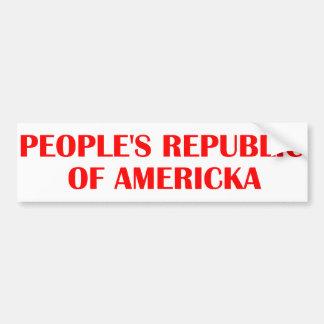 República popular de Americka Pegatina De Parachoque