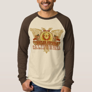 República popular de la camiseta de California Poleras