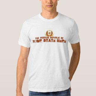 República popular de SU camiseta del ESTADO Playera